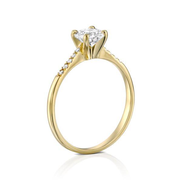 טבעת אירוסין אנדריאה זהב צהוב עומדת