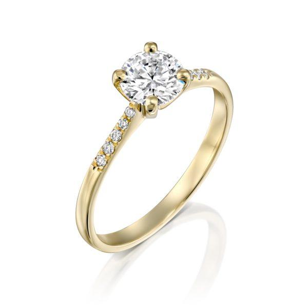 טבעת אירוסין אנדריאה זהב צהוב