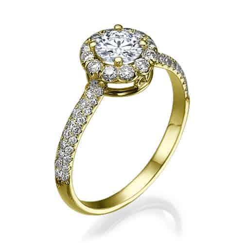 טבעת אירוסין קמרון זהב