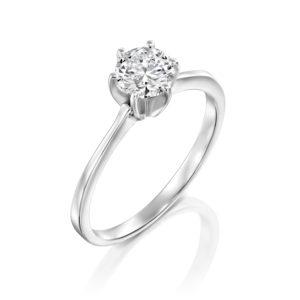טבעת אירוסין שאנון זהב לבן 0.41 קראט
