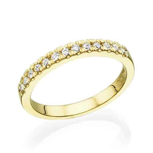 טבעת יהלומים אלין זהב