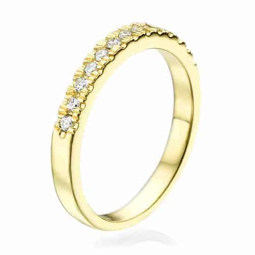טבעת יהלומים אלין