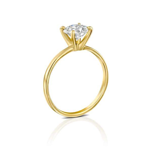 טבעת אירוסין אנה זהב צהוב עומדת