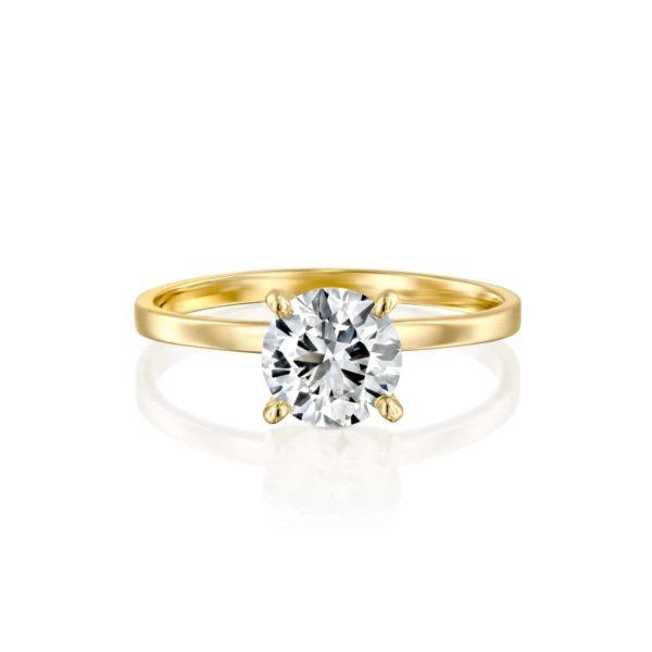 טבעת אירוסין אנה זהב צהוב פרונט