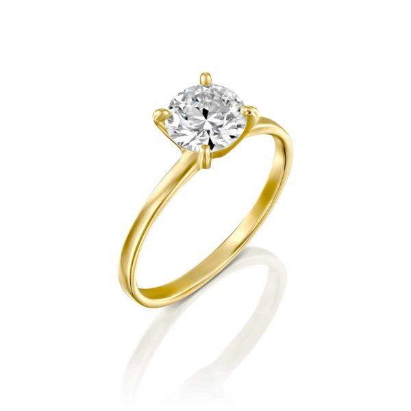 טבעת אירוסין אנה זהב צהוב