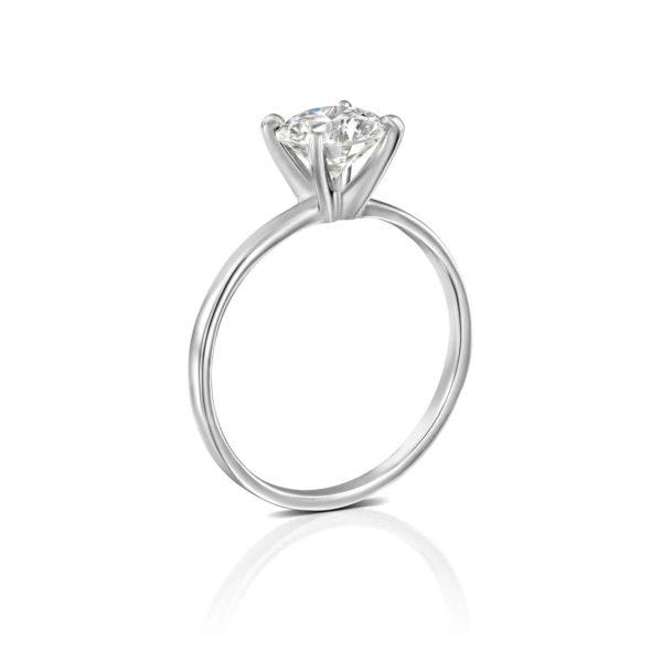 טבעת אירוסין אנה סוליטר זהב לבן עומדת