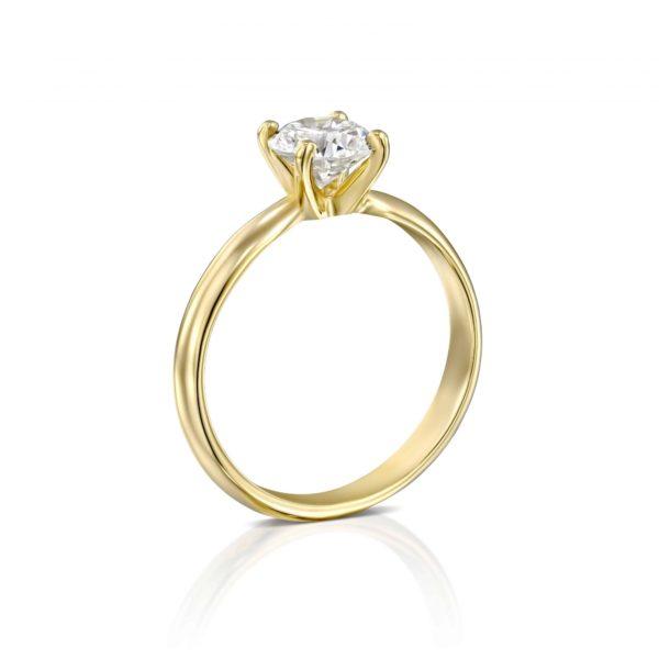 טבעת אירוסין ברנדה זהב צהוב עומדת