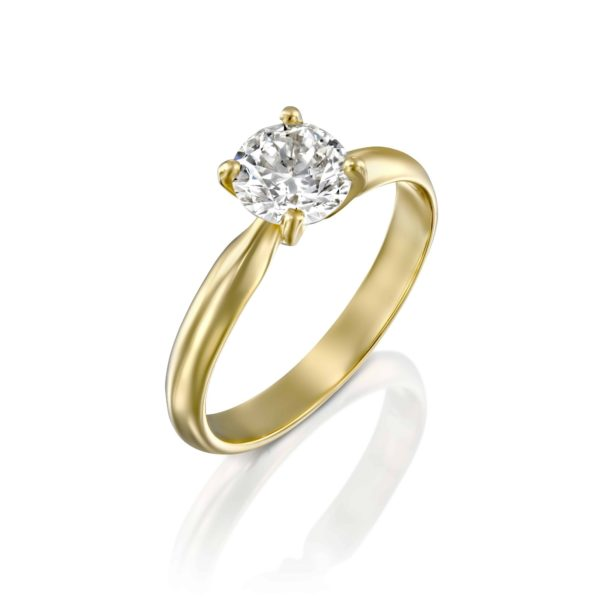 טבעת אירוסין ברנדה זהב צהוב