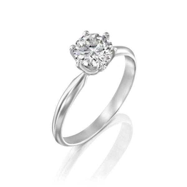 טבעת אירוסין קלייר זהב לבן