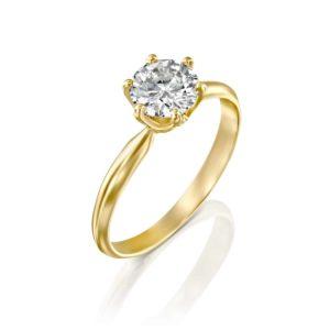 טבעת אירוסין קלייר זהב צהוב