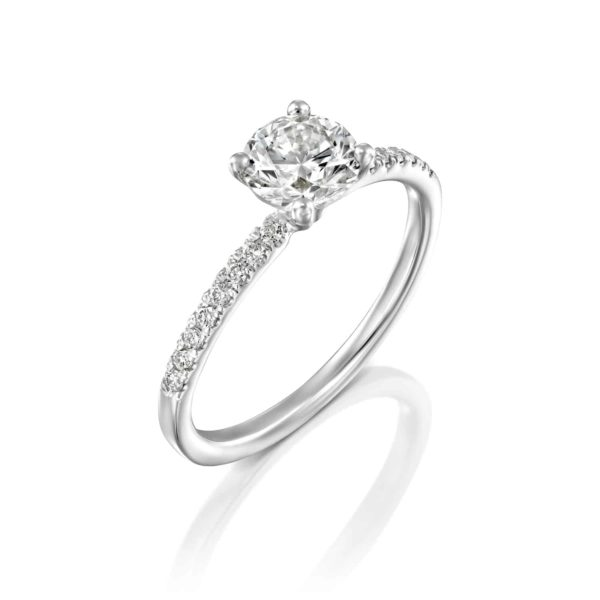 טבעת אירוסין קרול זהב לבן