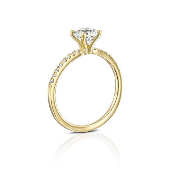 טבעת אירוסין קרול זהב עומדת