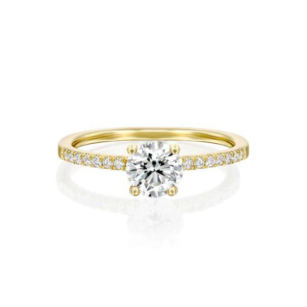 טבעת אירוסין קרול זהב פרונט