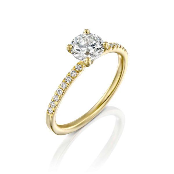 טבעת אירוסין קרול זהב