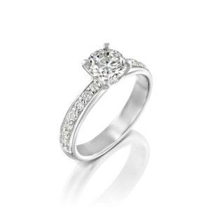 טבעת יהלומים לורן זהב לבן 1.71 קראט