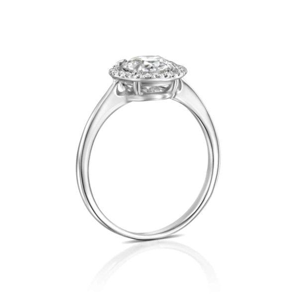 טבעת אירוסין ליסה זהב לבן - עומדת