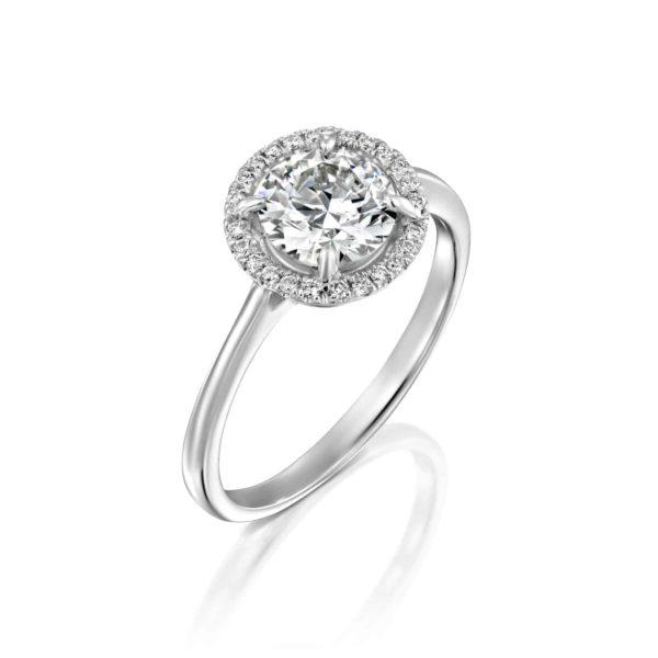 טבעת אירוסין ליסה זהב לבן