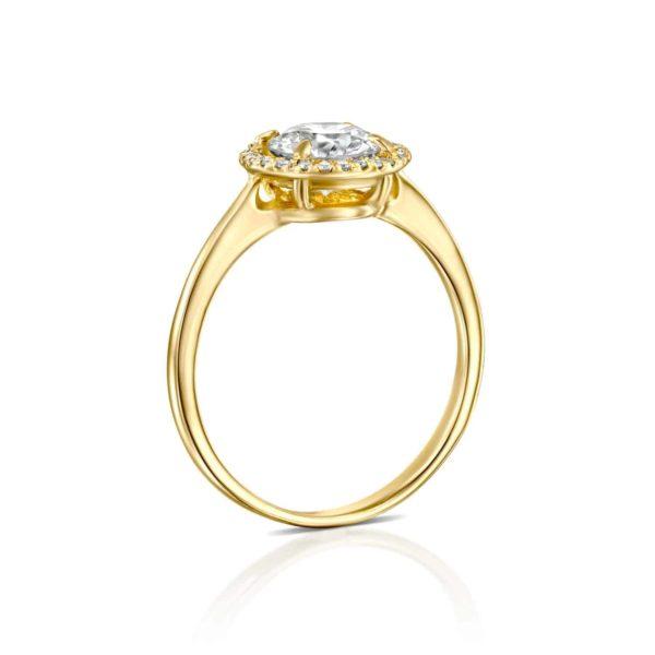 טבעת אירוסין ליסה זהב - עומדת