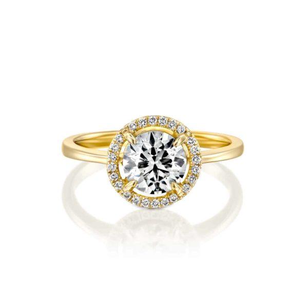 טבעת אירוסין ליסה זהב - פרונט
