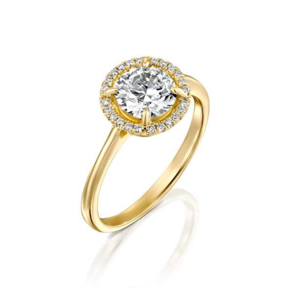 טבעת אירוסין ליסה זהב