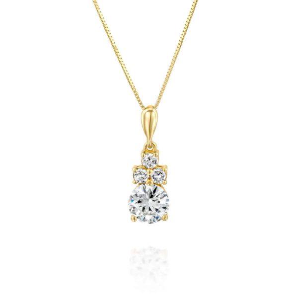 שרשרת זהב משובצת יהלום 0.70 קראט