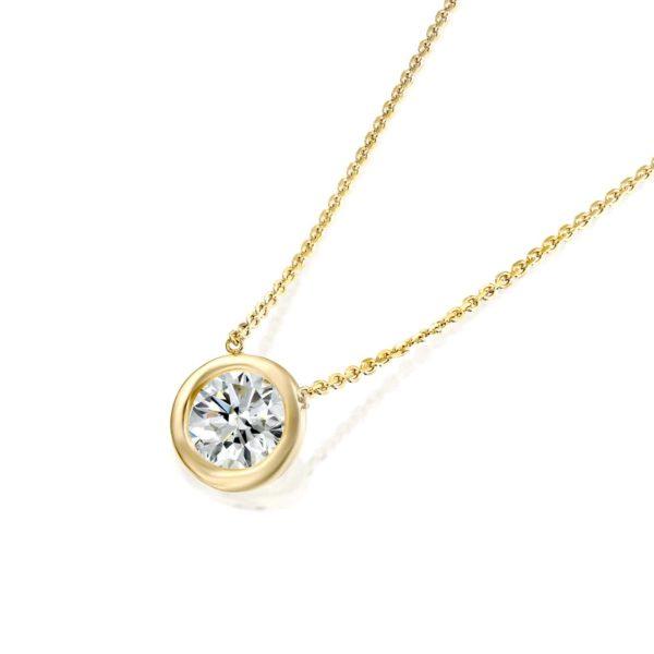 שרשרת זהב עם יהלום קלאסית משובצת