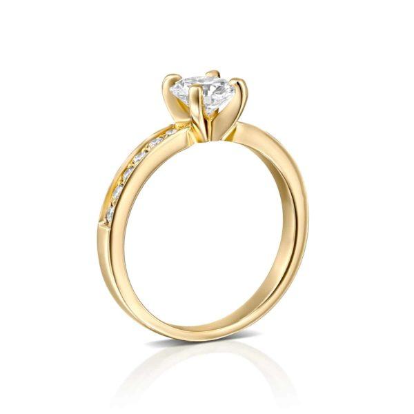 טבעת יהלום לנה זהב