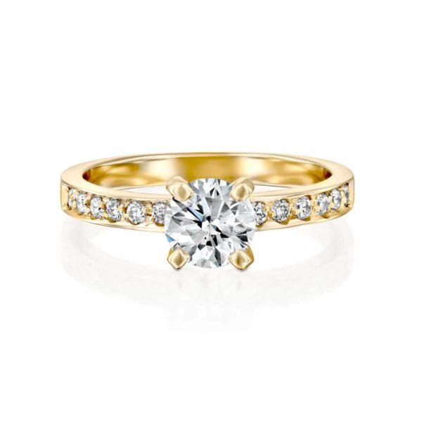 טבעת יהלום לנה זהב - פרונט