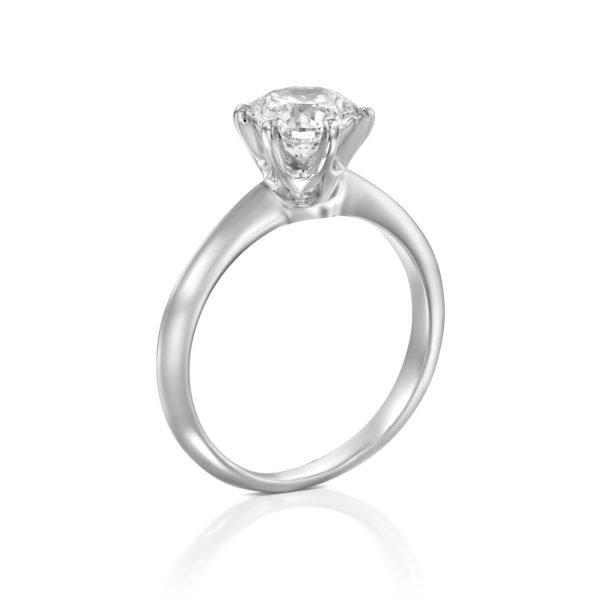 טבעת אירוסין הלן 1.51 קראט - זהב לבן - מיושרת