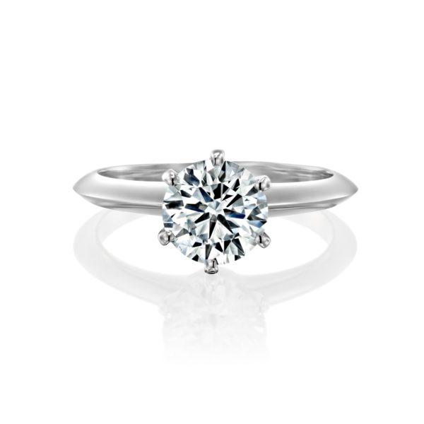 טבעת אירוסין הלן 1.51 קראט - זהב לבן פרונט