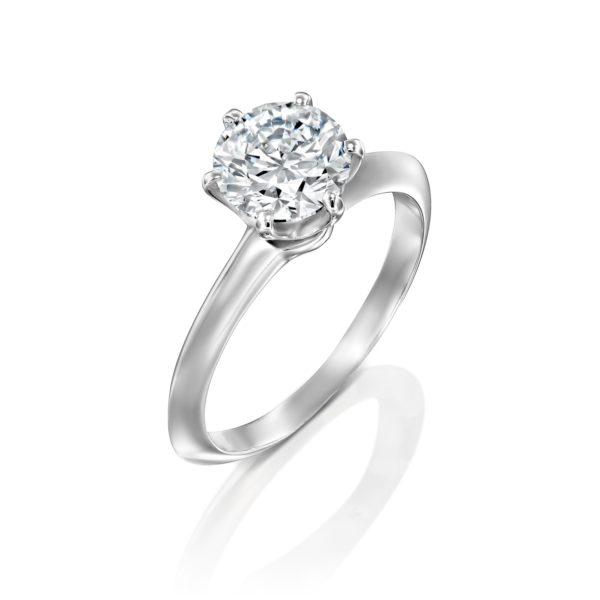 טבעת אירוסין הלן 1.51 קראט זהב לבן