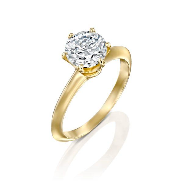 טבעת אירוסין הלן 1.51 קראט - זהב