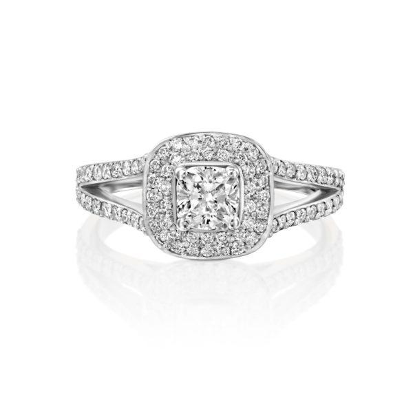 טבעת יהלומים אלכסיס 1.41 קראט - זהב לבן - פרונט