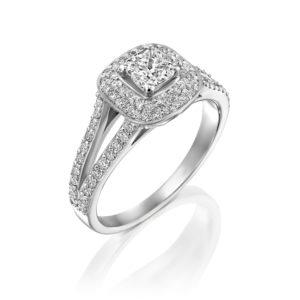 טבעת יהלומים אלכסיס 1.41 קראט - זהב לבן