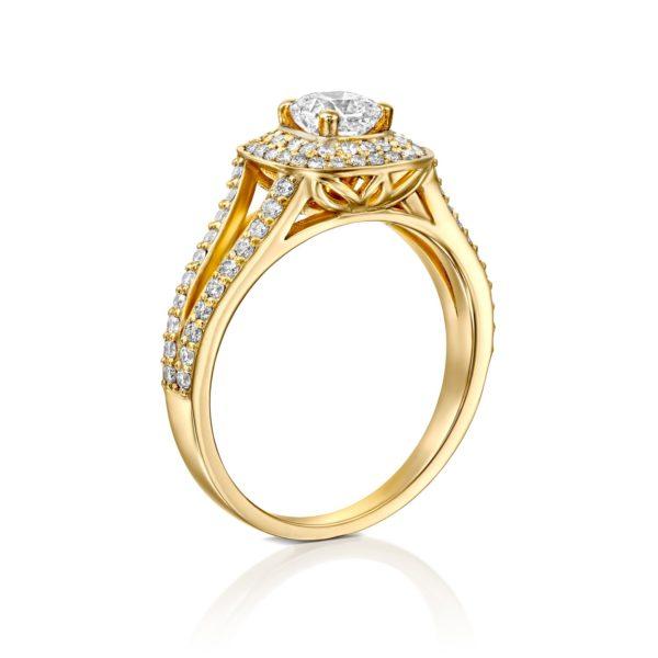 טבעת יהלומים אלכסיס 1.41 קראט - זהב - מיושרת