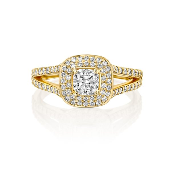 טבעת יהלומים אלכסיס 1.41 קראט - זהב - פרונט