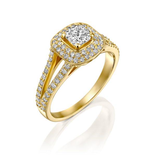 טבעת יהלומים אלכסיס 1.41 קראט - זהב