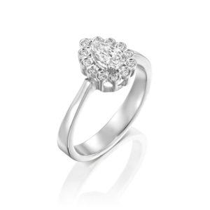 טבעת אירוסין נטלי 0.70 קראט - זהב לבן - ראשי