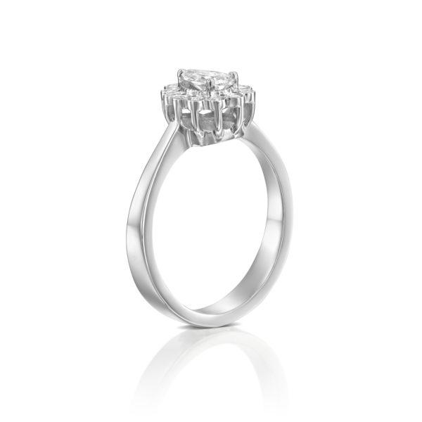טבעת אירוסין נטלי 0.70 קראט - זהב לבן - 2