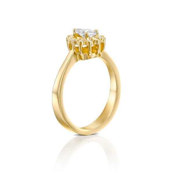 טבעת אירוסין נטלי 0.70 קראט - זהב צהוב - 2