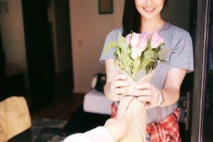 קבלת פרחים
